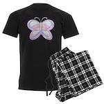 Butterfly Rainbow Men's Dark Pajamas