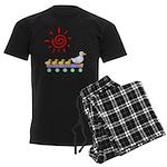 Duck Family Walk Men's Dark Pajamas