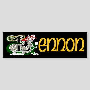 Lennon Celtic Dragon Bumper Sticker