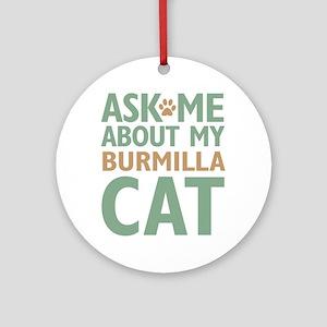 Burmilla Cat Ornament (Round)
