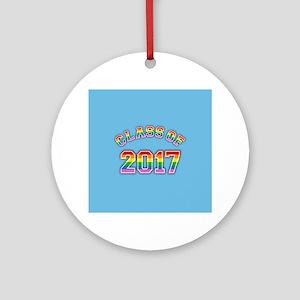Class Of 2017 Rainbow Round Ornament