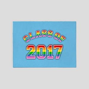 Class Of 2017 Rainbow 5'x7'Area Rug