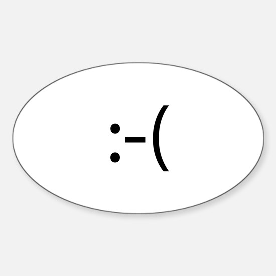 Frowning Smiley Oval Decal