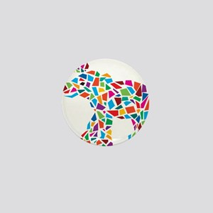 Abstract Elephant Mini Button