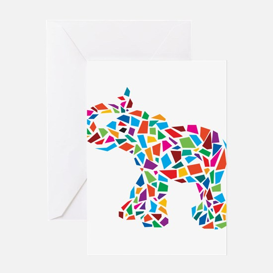Abstract Elephant Greeting Card