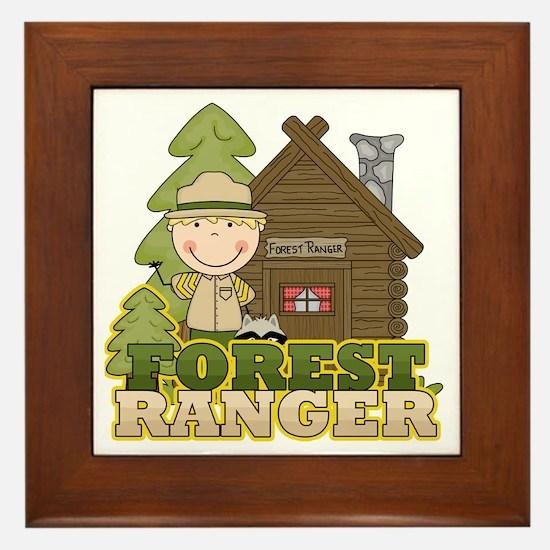 Male Forest Ranger Framed Tile
