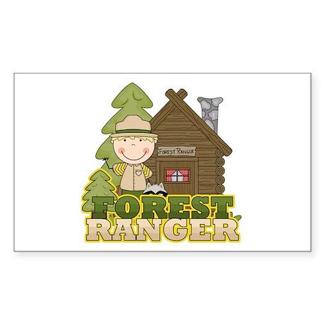 Male Forest Ranger Sticker (Rectangle)
