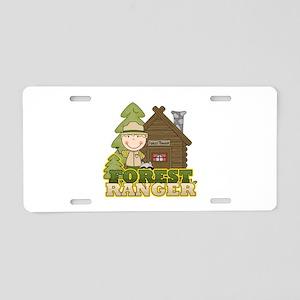 Male Forest Ranger Aluminum License Plate