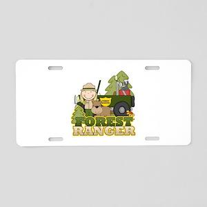 Female Forest Ranger Aluminum License Plate