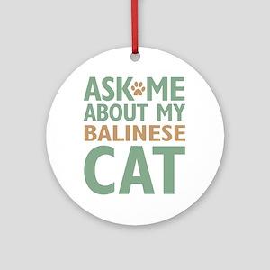 Balinese Cat Ornament (Round)