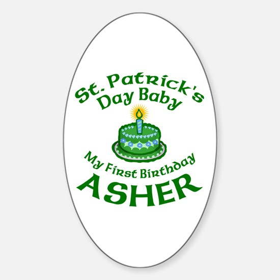 Personalized for Asher Sticker (Oval)
