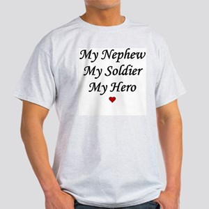My Nephew My Soldier My Hero Ash Grey T-Shirt