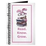 Rabbit says Read.Know.Grow. Journal