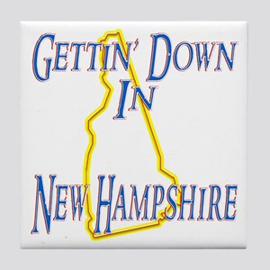 Gettin' Down in NH Tile Coaster