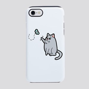 Fat Cat Trying to Get Butterfl iPhone 7 Tough Case