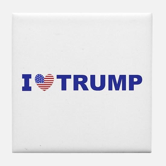 I Love Trump Tile Coaster