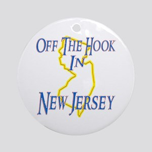 Off the Hook in NJ Ornament (Round)