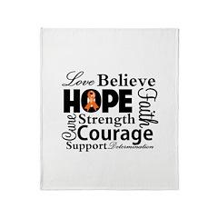 Believe Multiple Sclerosis Throw Blanket