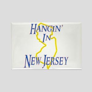 Hangin' in NJ Rectangle Magnet