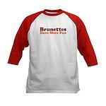 Brunettes Have More Fun Kids Baseball Jersey