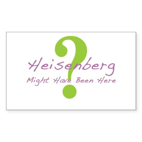 Heisenberg Sticker (Rectangle)
