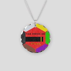 TaeKwonDo Black Belt Necklace Circle Charm