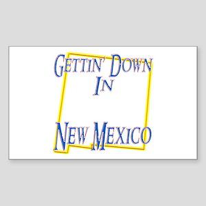 Gettin' Down in NM Sticker (Rectangle)