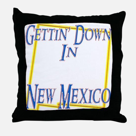 Gettin' Down in NM Throw Pillow