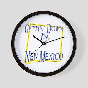 Gettin' Down in NM Wall Clock