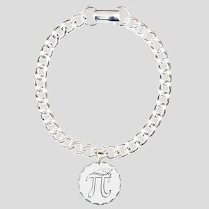 Math Pi Graduate Charm Bracelet, One Charm