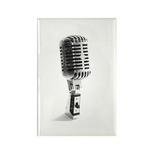 Vintage Microphone Rectangle Magnet