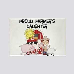 Proud Farmer's Daughter Rectangle Magnet
