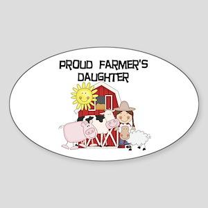 Proud Farmer's Daughter Sticker (Oval)