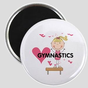 Blond Girl Gymnast Magnet
