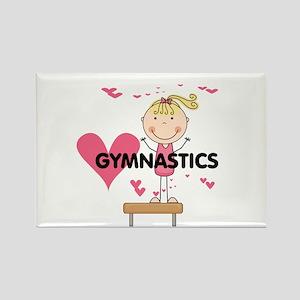 Blond Girl Gymnast Rectangle Magnet