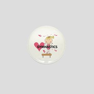 Blond Girl Gymnast Mini Button