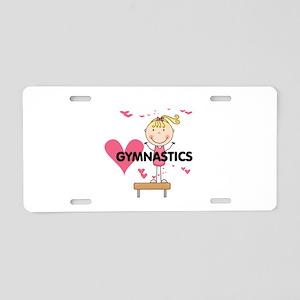 Blond Girl Gymnast Aluminum License Plate