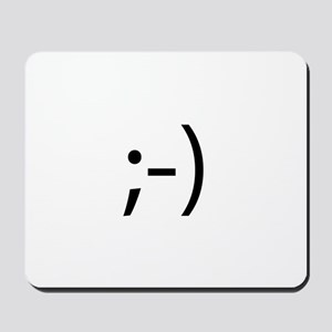 Winking Smilie Mousepad