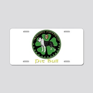 always faithful pit bull Aluminum License Plate