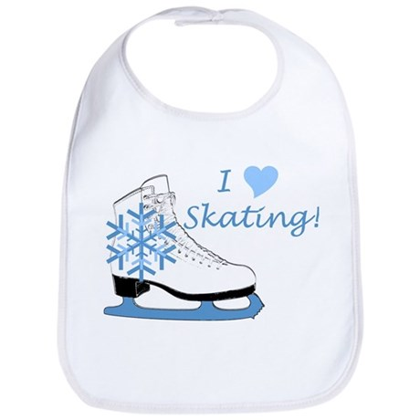 I Heart Skating Ice Skate Bib