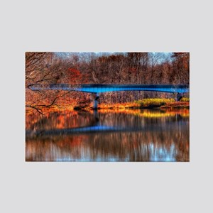 Autumn Reflections Rectangle Magnet