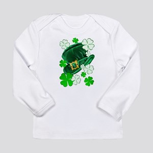 Green N Gold Shamrock Long Sleeve Infant T-Shirt
