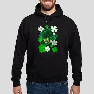 Green N Gold Shamrock Hoodie (dark)
