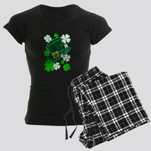 Green N Gold Shamrock Women's Dark Pajamas