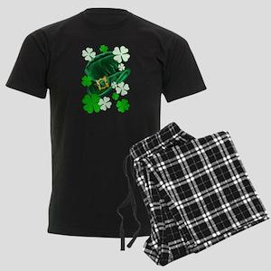 Green N Gold Shamrock Men's Dark Pajamas
