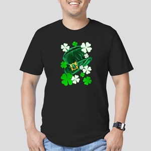 Green N Gold Shamrock Men's Fitted T-Shirt (dark)