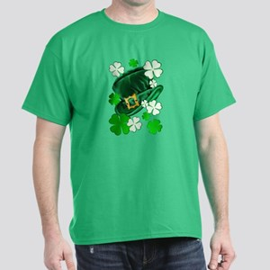 Green N Gold Shamrock Dark T-Shirt