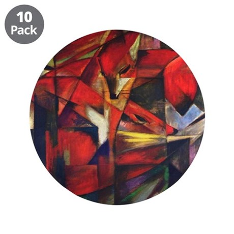 """The Fox by Franz Marc 3.5"""" Button (10 pack)"""