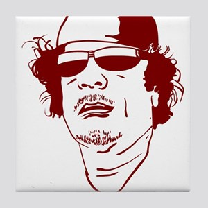 Moammar Gadhafi Tile Coaster