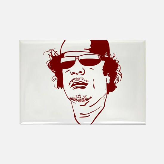 Moammar Gadhafi Rectangle Magnet